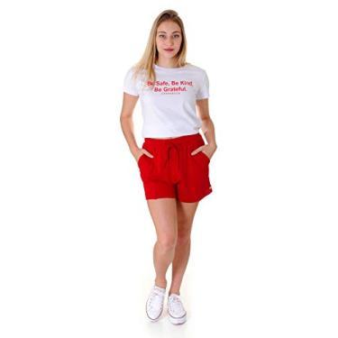 Shorts Feminino Operarock Moletinho Vermelho