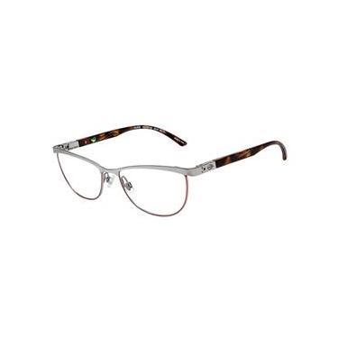 e822a1da875aa Armação Óculos Grau Mormaii Mo110367752 Cinza Marrom
