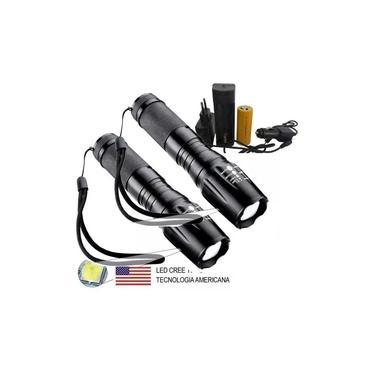 2 Lanternas Tática Militar x900 Recarregável Police Zoom