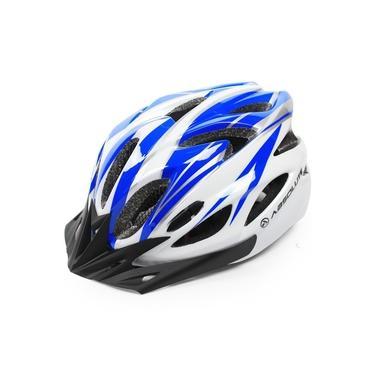 Imagem de Capacete Ciclista High One Com Viseira Pisca Branco Tam M