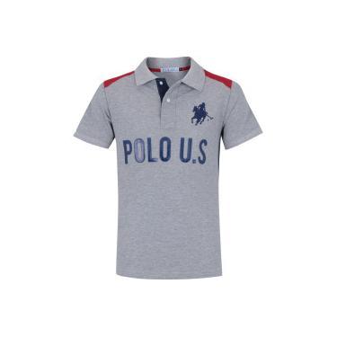 fa0f71af6f Camisa Polo Polo US 116 - Masculina - CINZA AZUL ESC Polo Us