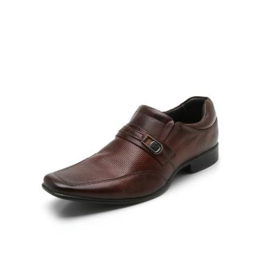 b7edf07471 Sapato Social Couro Rafarillo Texturizado Marrom Rafarillo 34003-01P  masculino