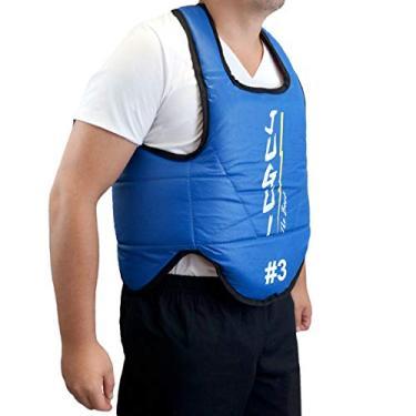 Protetor de torax para artes marciais Jugui (Numero 4, Azul/Vermelho)