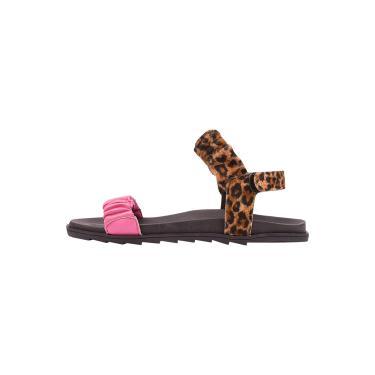 Imagem de Sandalia Birken Papete Latikas Blogueira Lançamento Onça com Pink  feminino