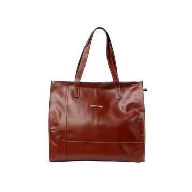 Bolsa feminina grande de couro legítimo modelo sacola