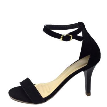 Sandália Salto Fino Zapattus Preto  feminino