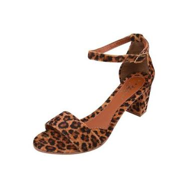 Imagem de Sandália Salto Onça Básica Animal Print Latikas - Latikas Shoes