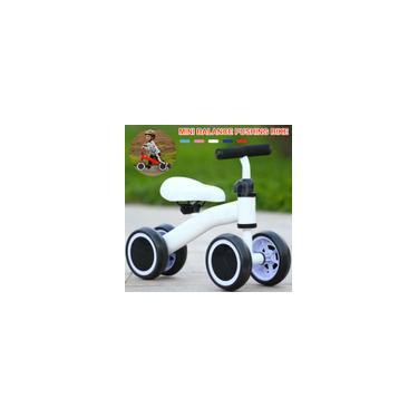 Imagem de Bicicleta de empurrar para bebês com equilíbrio de bebês, 4 rodas sem pedal para crianças, bicicleta de treinamento infantil