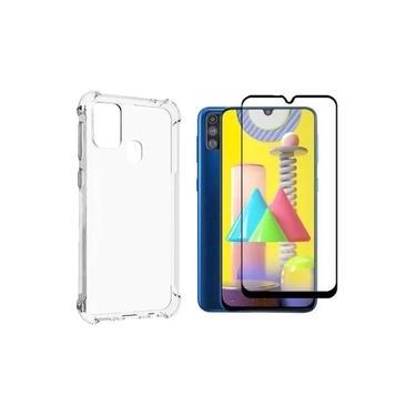 Capa transparente Samsung Galaxy M31/M21s + Pelicula 3d/5d vidro R&M Acessórios