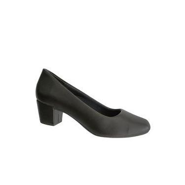 Sapato Feminino Confortável Salto Baixo Médio Grosso 820