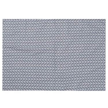 Imagem de Toalha de mesa WINOMO de algodão e linho, simples e moderna, com padrão de flechas, protetor de mesa para decoração de cozinha de jantar 80 x 120 cm (cinza)