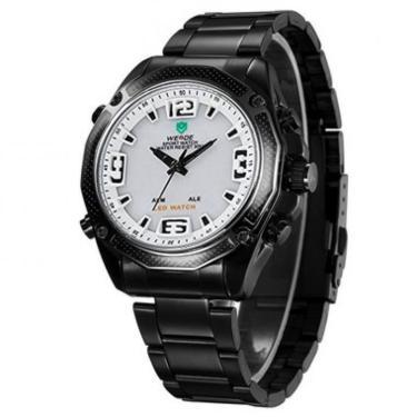 ca840633200 Relógio Weide Anadigi Casual Wh-2306 - Branco masculino