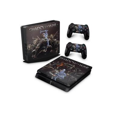Skin Adesivo para PS4 Slim - Shadow Of War