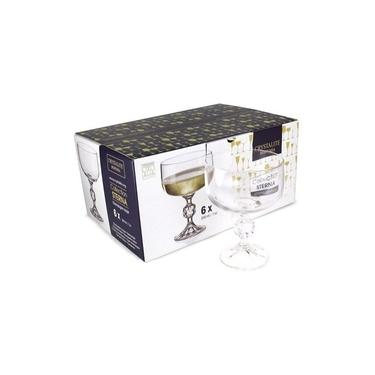 Jogo 6 Taças Coupe Cocktail Champanhe Cristal Bohemia 200ml