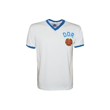 Camisa Liga Retrô DDR 1974 Branca (Alemanha Oriental)