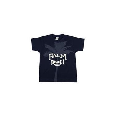 Camiseta Infantil Meia Malha Palm Beach - Marinho