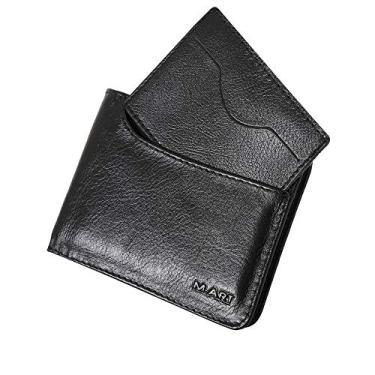 Carteira Masculina Slim Couro Legítimo Porta CNH 179 (Preto)
