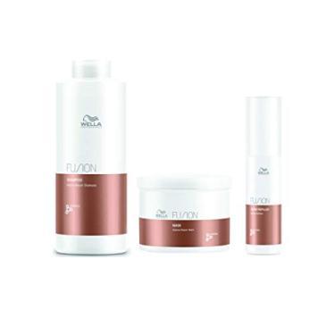 Kit Shampoo Máscara e Amino Refiller Fusion Wella Professionals
