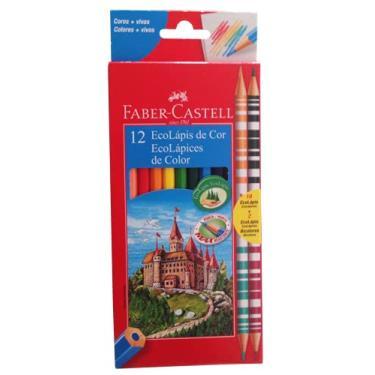 Lápis de Cor 12 Cores 2 Lápis Bicolor Faber Castell