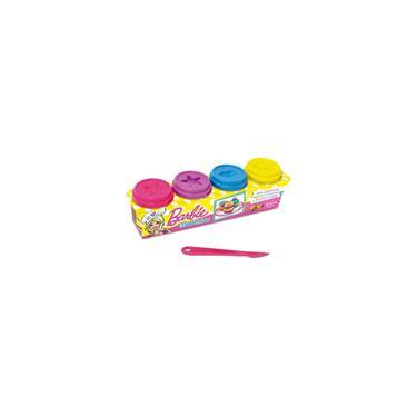 Imagem de Massinha De Modelar c/ Faquinha Barbie Fun Kit 4 Potes 50g