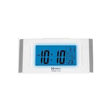 Imagem de Despertador Digital Herweg Luz Noturna Led Com Calendario Termometro Alarme E Snooze