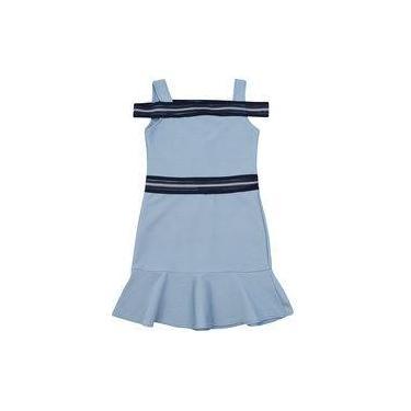 Vestido Authoria Bandagem Azul Ceu