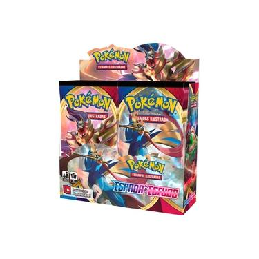 Box 36 Booster Cards Pokémon Espad a e Escudo Sword Shield Copag - SUIKA