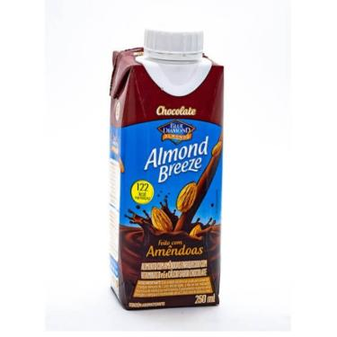 Almond Breeze Zero Açúcar Sabor Chocolate 250ml
