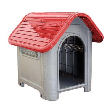 Casa Casinha De Cachorro N.3 Mecpet Média Vermelha