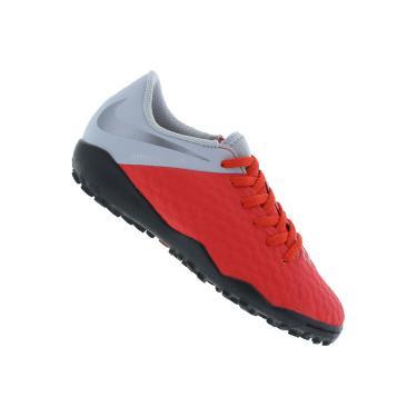 Chuteira Society Nike Hypervenom Phantom X 3 Academy TF - Infantil Nike Unissex