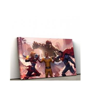 Quadro Decorativo 60x90cm Marvel VS DC I