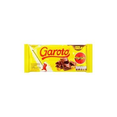 Chocolate Garoto Tablete Crocante 90g - Embalagem c/ 14 unidades