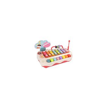 Imagem de Música infantil brinquedos piano teclado xilofone 2 em 1 instrumento eletrônico