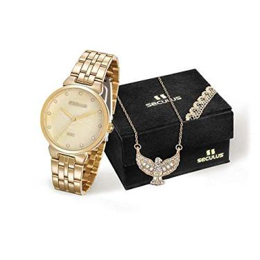 d89a7866730 Kit Relógio com Colar Divino Espírito Santo Dourado