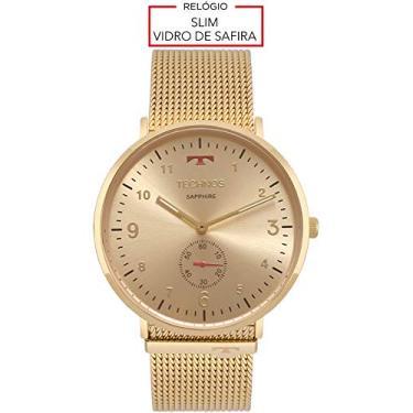 Relógio Unissex Technos Digital Slim Vidro De Safira 1L45Ax 4A Dourado e702969771