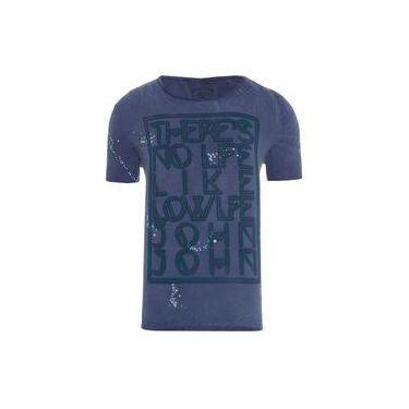 0c721b6b21 T-shirt masculina no life - azul - john john