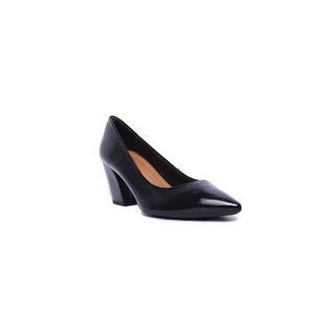 Sapato Feminino Casual Usaflex em Couro Verniz