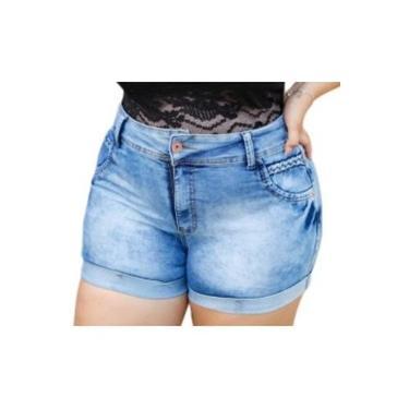 Short feminino jeans plus size
