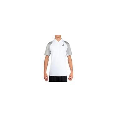 Imagem de Camisa Polo Adidas Club Tennis Branca e Cinza