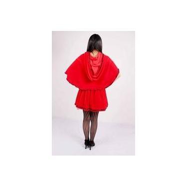 Imagem de Fantasia Feminina vestido Festa Luxo Chapeuzinho Vermelho Princesa Urbana