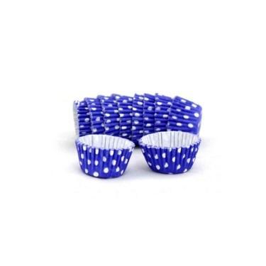 Forma Papel Número 5 Azul Royal Poá Branco Com 100 Unidades Mago