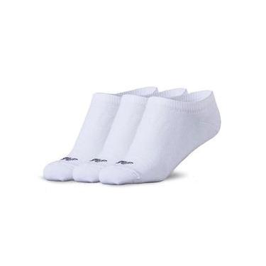 Kit de Meias New Balance Cano Invisível Feminino Branco - P