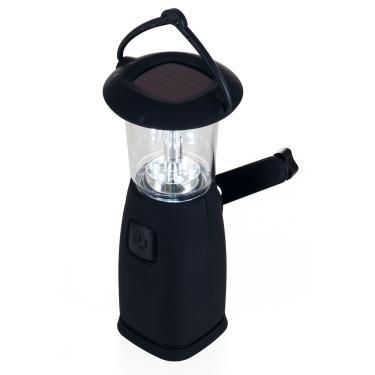 Whetstone Lanterna de acampamento alimentada por energia solar e dinamo de 6 LEDs