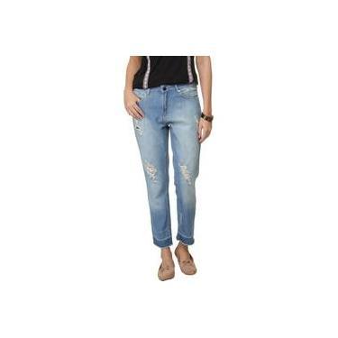 Calça Jeans Bobstore Boyfriend Destroyed