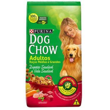 Ração Seca Nestlé Purina Dog Chow Extra Life Cães Adultos Raças Médias e Grandes - 20 Kg