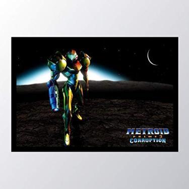 Quadro com moldura Metroid Samus Aran_001