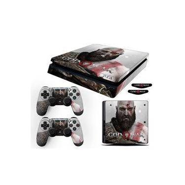Adesivo Skin PS4 Slim Kratos God Of War 4