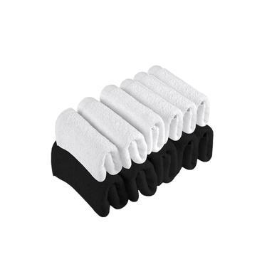 Imagem de Kit 12 Toalhas de Rosto Para Salão Beleza 100% Algodão 40 x 65 cm Branca Preta Emcompre