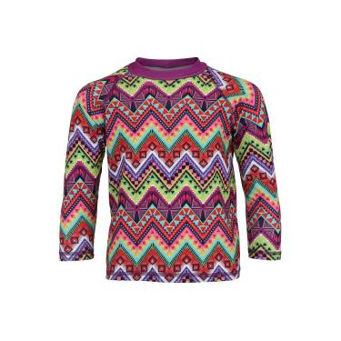 Camiseta Manga Longa com Proteção Solar UV Swim Colors Geo Colors 2  Feminina - Infantil - b61ede70c71