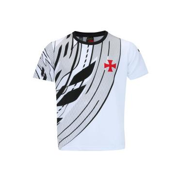 Camiseta do Vasco da Gama Linked - Infantil - BRANCO PRETO Braziline be7a738270d87